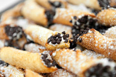 Fresh Cannolis for Dessert Royalty Free Stock Images