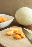 Fresh Cantalope Royalty Free Stock Image