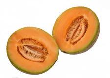 Fresh Cantaloupe Halves Royalty Free Stock Images