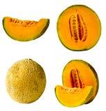 Fresh Cantaloupe Isolated Stock Image