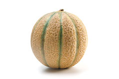 Fresh cantaloupe over white Royalty Free Stock Images