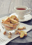 Fresh cantuccini with pistachios Royalty Free Stock Photos