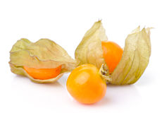 Fresh  cape gooseberry  isolated on white Stock Photo