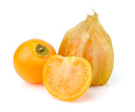 Fresh  cape gooseberry  isolated on white Stock Photos