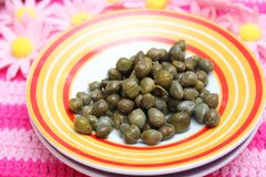 Fresh capers Stock Photos