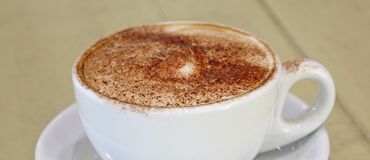 Fresh cappuccino coffee Stock Photo