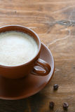 Fresh cappuccino in cup Royalty Free Stock Photos
