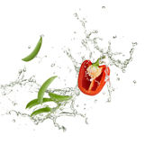 Fresh capsicum and peas Royalty Free Stock Images