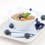 Fresh caramel pudding Stock Image