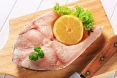 Fresh carp steak Stock Photos