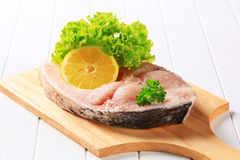 Fresh carp steak Royalty Free Stock Photos