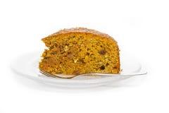 Fresh carrot cake Royalty Free Stock Images
