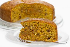 Fresh carrot cake Stock Images