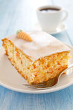 Fresh carrot cake Stock Photos