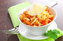 Fresh carrot-ginger salad Stock Image