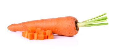 Fresh carrot isolated on a white background Royalty Free Stock Photos
