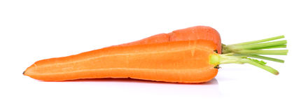 Fresh carrot isolated on a white background Stock Photography