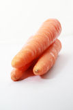 Fresh carrot isolated on a white background. 3 pieces of fresh carrot isolated on a white back ground Stock Photography