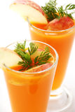 Fresh carrot juice Royalty Free Stock Photo
