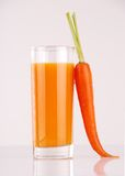 Fresh carrot juice Stock Photo