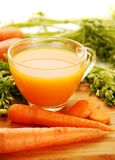 Fresh carrot juice Royalty Free Stock Photography