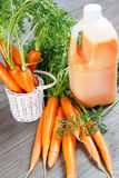 Fresh carrot juice Stock Photography