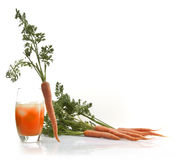 Fresh carrot juice in glass Royalty Free Stock Images