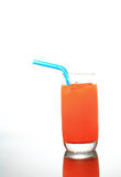 Fresh carrot juice glass Royalty Free Stock Images