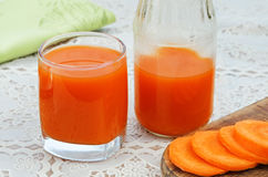 Fresh carrot juice in a glass Stock Photo