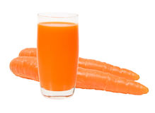 Fresh carrot juice isolated Stock Photo