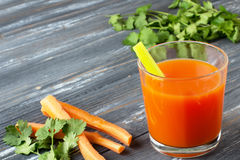 Fresh carrot juice Stock Photography