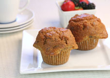 Fresh carrot muffins Royalty Free Stock Photo
