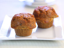 Fresh Carrot Muffins Royalty Free Stock Photography