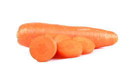 Fresh carrot on a over white background Stock Image