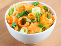 Fresh carrot salad in bowl Stock Photos