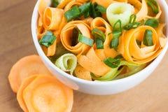 Fresh carrot salad Stock Image
