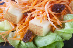 Fresh Carrot Salad Close up Stock Photography