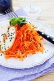 Fresh carrot salad Stock Photo