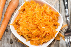 Fresh Carrot Salad Royalty Free Stock Photos
