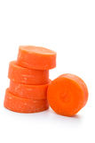 Fresh carrot slices stack up Royalty Free Stock Photos