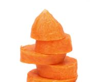 Fresh carrot slices stack up Stock Photography