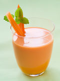 Fresh carrot smoothie Royalty Free Stock Photo