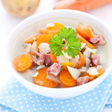 Fresh carrot soup Royalty Free Stock Images