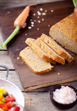 Fresh carrot, spelt and oat bread, loaf Stock Photos