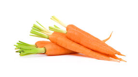 Fresh carrot on a white background Stock Photos