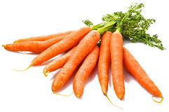 Fresh Carrots. On th white Royalty Free Stock Images