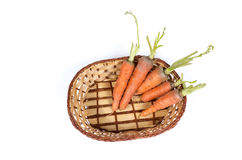 Fresh carrots in a basket Stock Photos
