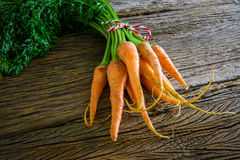 Fresh carrots bunch Stock Photo