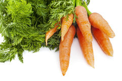 Fresh carrots bunch isolated on white background Stock Photo