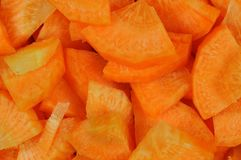 Fresh carrots cut in slices stock photos
